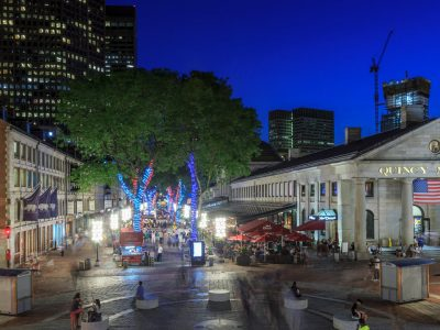Quincy Market at Night--Walk on Over from The Sudbury