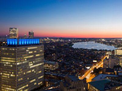 Sun setting over Charles River, exclusive Sudbury condo view