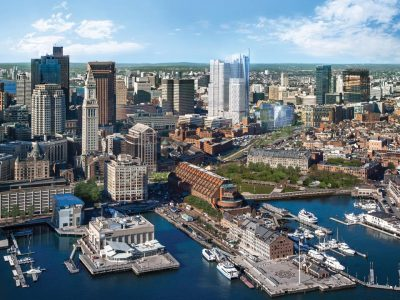 Bulfinch Crossing as it will appear from Boston Harbor
