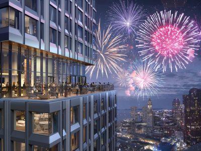 The Sky Deck at The Sudbury 32 floors up