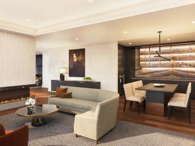Condo owner's lounge area